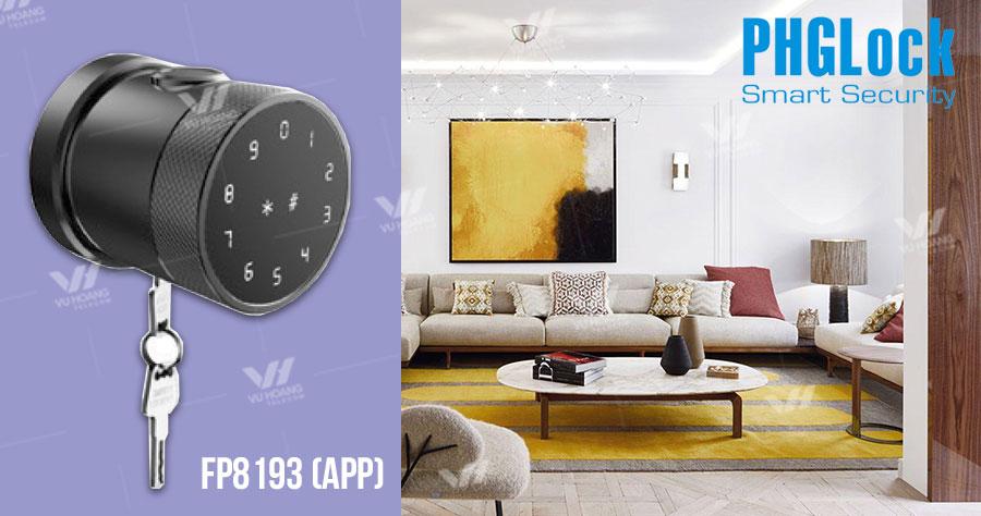 Bán khóa cửa có tay nắm tròn PHGLOCK FP8193 (App) giá rẻ
