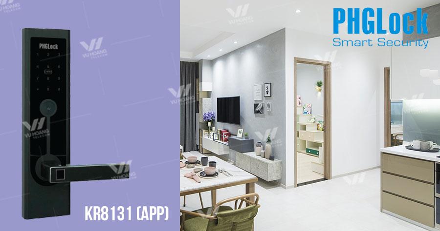 Bán Khóa cửa điện tử cho căn hộ PHGLOCK KR8131 (App) giá rẻ