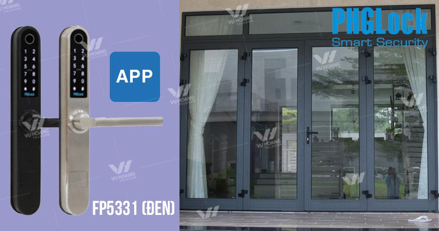 Khóa vân tay có thêm chức năng app FP5331 (Đen)