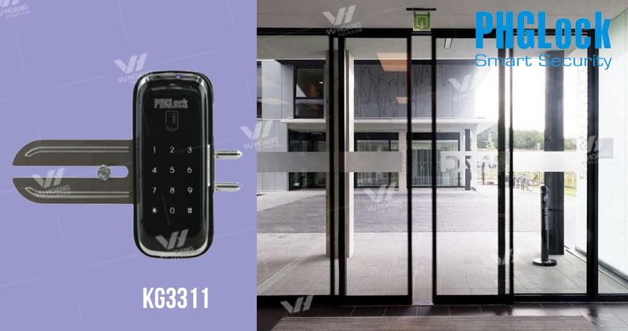 Bán khóa cửa mật mã cho cửa kính PHGLOCK KG3311 giá rẻ