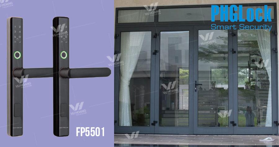 Bán Khóa cửa vân tay cho cửa nhôm PHGLOCK FP5501 giá rẻ