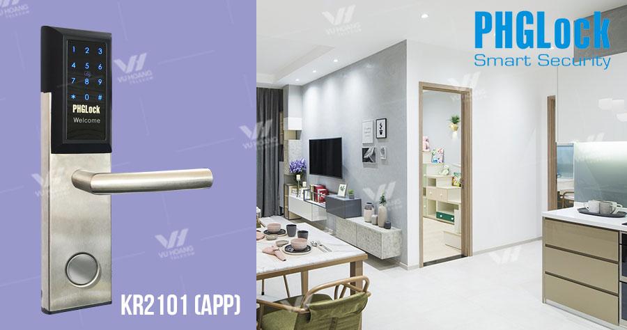 Khóa thông minh cho căn hộ PHGLOCK KR2101 (App)