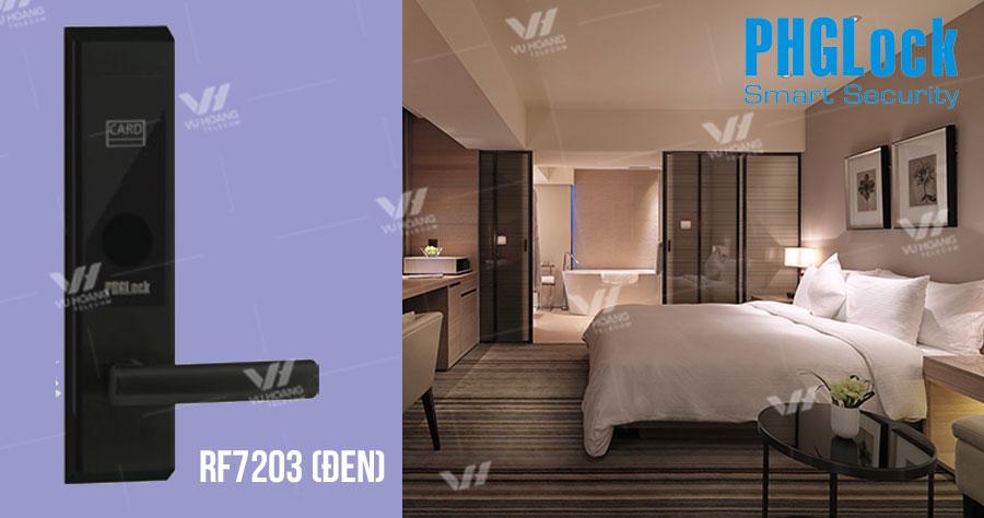 Bán Khóa cửa thông minh cho khách sạn PHGLOCK RF7203 (Đen) giá rẻ