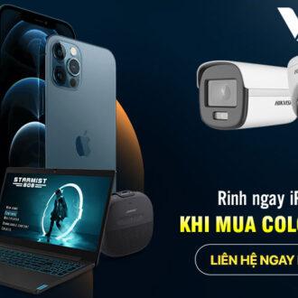 Khuyến mãi mua Hikvision - Nhích Dế xịn iPhone 12 tại Vuhoangtelecom