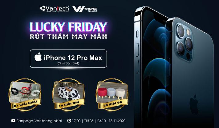 Quay số trúng thưởng Iphone 12 khi mua camera Vantech