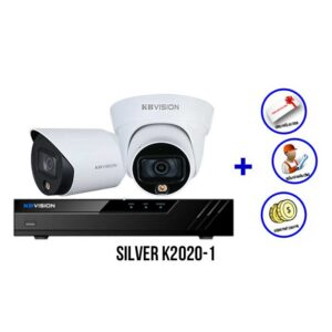 Trọn bộ 2 camera Full Color KBVISION SILVER K2020-1