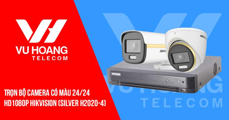 Trọn bộ camera có màu 24/24 HD1080P HIKVISION (SILVER H2020-4)