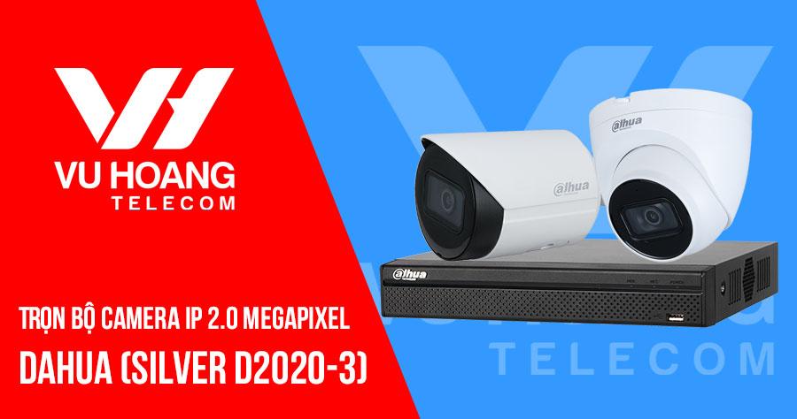 Lắp đặt trọn bộ camera IP 2MP DAHUA SILVER D2020-3 giá rẻ