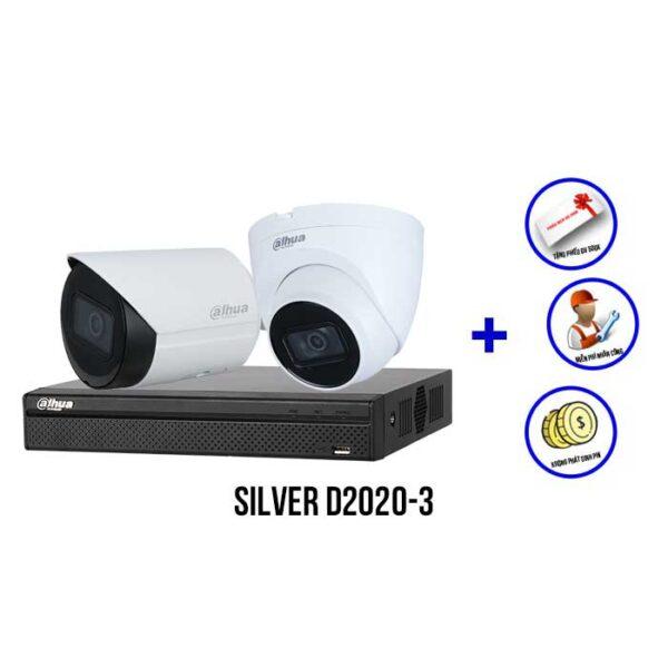 Trọn bộ camera IP DAHUA SILVER D2020-3