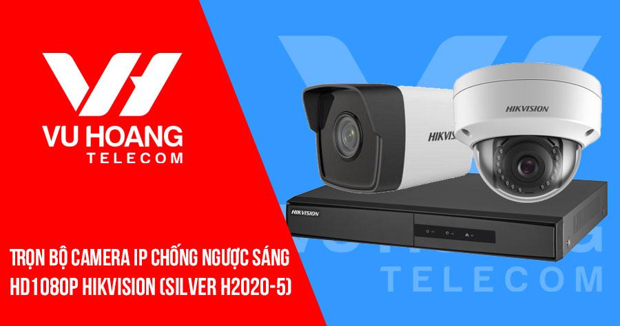 Trọn bộ camera IP chống ngược sáng 2MP HIKVISION (SILVER H2020-5)