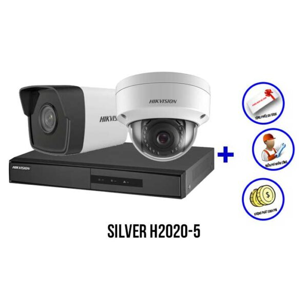 Trọn bộ camera IP HIKVISION SILVER H2020-5