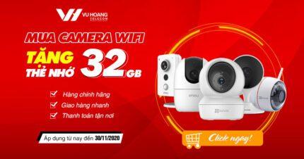 Khuyến mãi tặng thẻ nhớ 32Gb khi mua camera IP Wifi