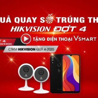 Kết quả Quay số trúng thưởng khuyến mãi Hikvision Đợt 4