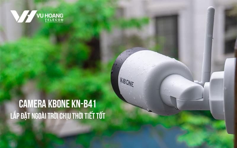 Camera KBONE KN-B41 chịu được thời tiết tốt khi lắp đặt ngoài trời