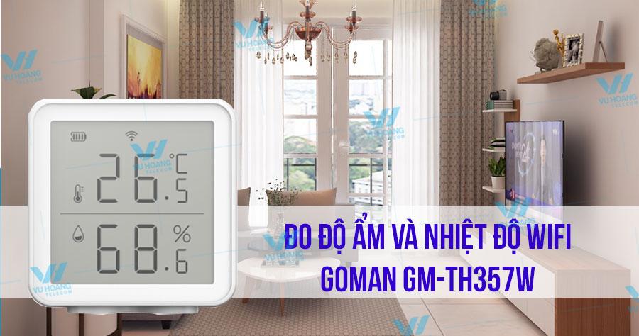 Đo độ ẩm và nhiệt độ Wifi GOMAN GM-TH357W giá rẻ