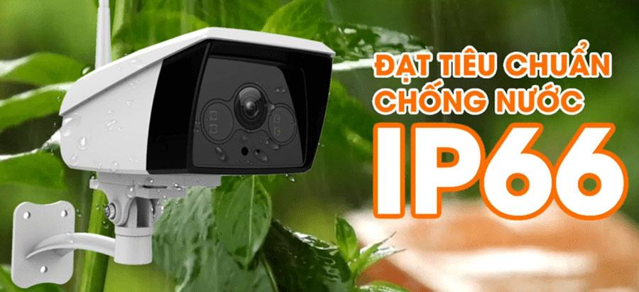 Camera EBO2 STARLIGHT hỗ trợ IP66 phù hợp lắp đặt ngoài trời