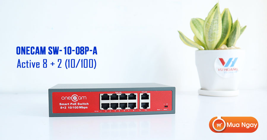 Switch PoE 8 cổng ONECAM SW-10-08P-A chất lượng cao