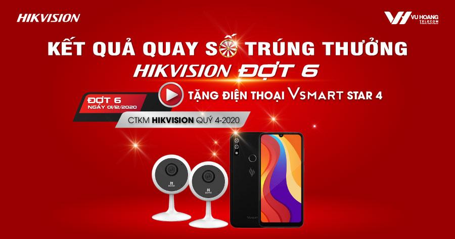 Kết quả Quay số trúng thưởng CTKM Hikvision Đợt 6
