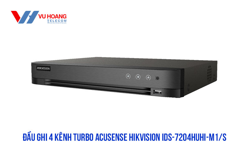 Đầu ghi thông minh 4 kênh HDTVI HIKVISION iDS-7204HUHI-M1/S