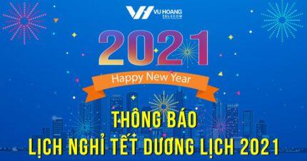 Vuhoangtelecom thông báo lịch nghỉ Tết Dương Lịch 2021
