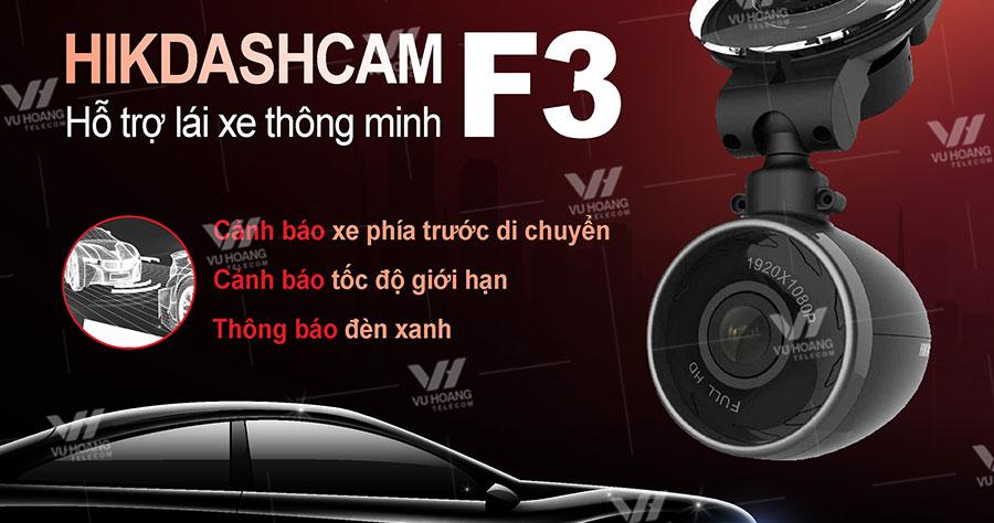 Bán camera hành trình Hikvision F3 tích hợp GPS, cảm biến gia tốc
