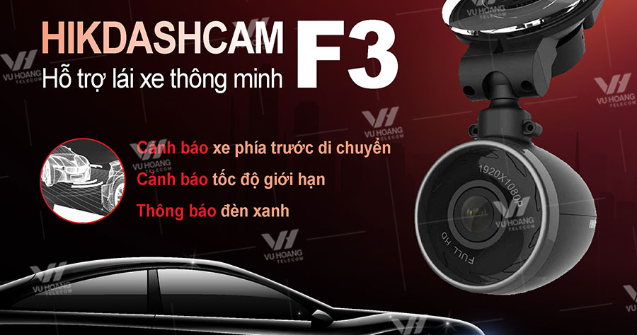 Bán camera hành trình F3 Pro Hikvision Tích hợp GPS cảm biến gia tốc