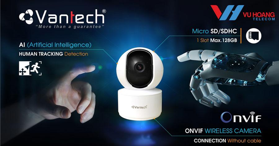 Camera IP Wifi 8.0MP VANTECH AI-V2010D