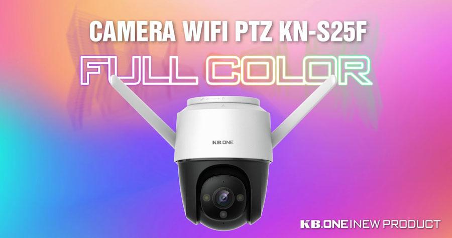 Camera Wifi PTZ Full Color 2MP KBONE KN-S25F