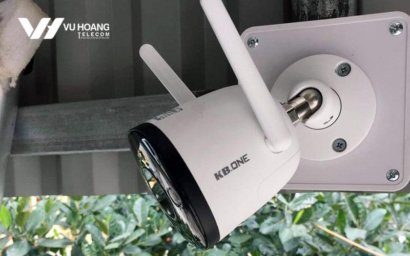 Lắp đặt camera IP KBONE KN-B21 thực têé ngoài trời