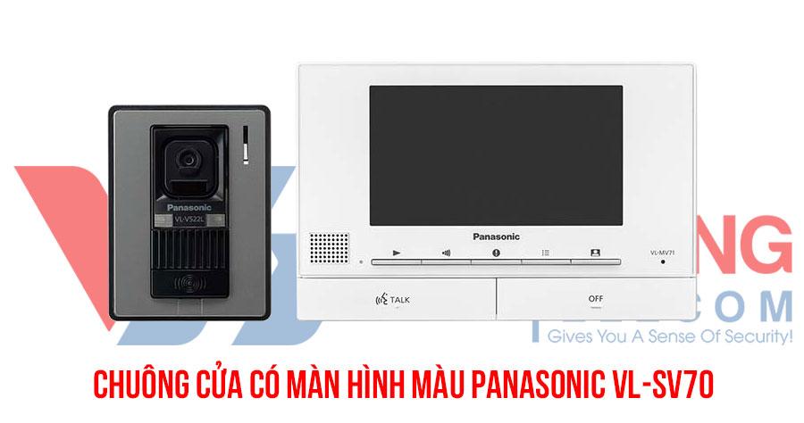 Chuông hình màu Panasonic VL-SV70 chính hãng, thiết kế thẩm mỹ