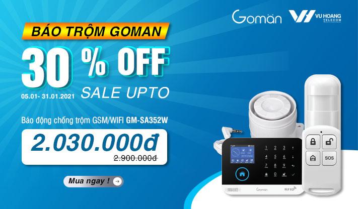 Khuyến mãi báo trộm GOMAN GM-SA352W giảm 30%