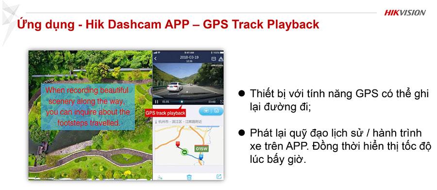 Hik Dashcam APP – GPS Track Playback