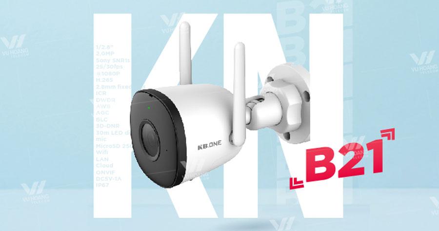 Camera wifi thân cố định ngoài trời 2MP KBONE KN-B21