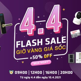 Flash Sale 4.4 Giảm giá sốc theo giờ tại Vuhoangtelecom