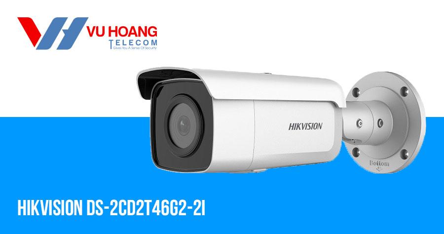 Camera IP AcuSense thân trụ 4MP HIKVISION DS-2CD2T46G2-2I