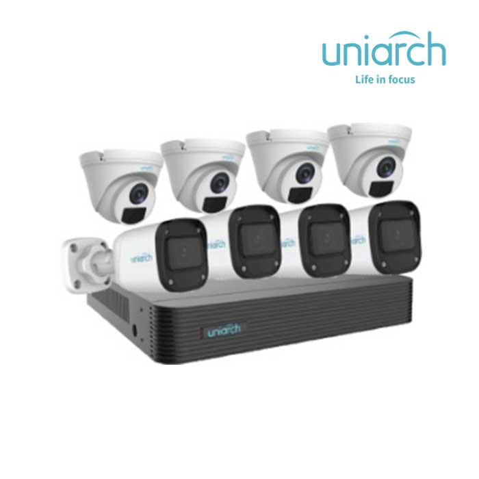 Bộ Kit 8 Camera IP 2MP UNIARCH COMBO X82P1