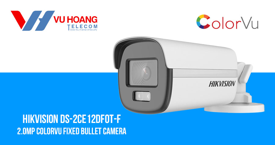Bán camera HDTVI ColorVu 2MP HIKVISION DS-2CE12DF0T-F giá rẻ