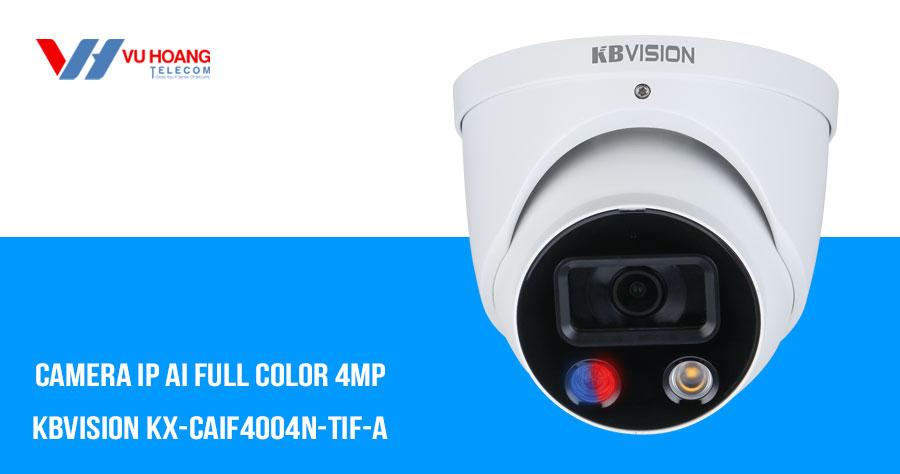 Bán camera IP AI Full Color 4MP KBVISION KX-CAiF4004N-TiF-A giá rẻ