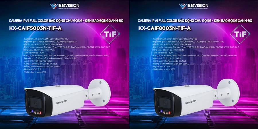 Dòng camera TiF KBVISION mới - 2