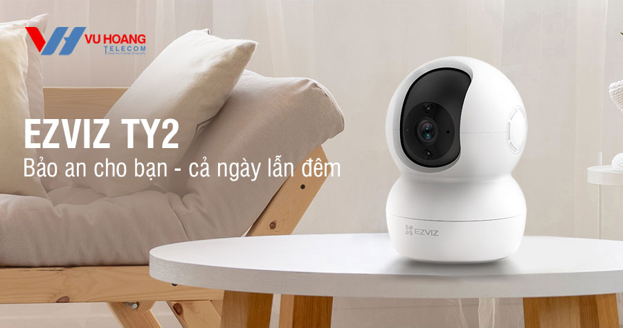 Bán camera Wifi EZVIZ CS-TY2-B0-1G2WF quay quét thông minh giá rẻ