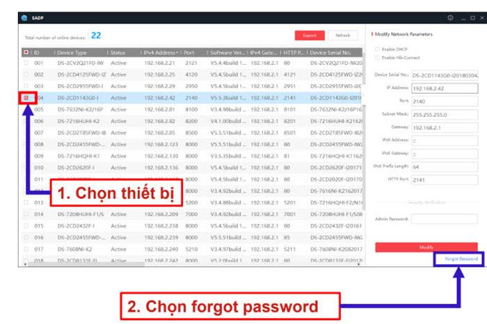 Khôi phục lại mật khẩu qua đầu ghi Hilook