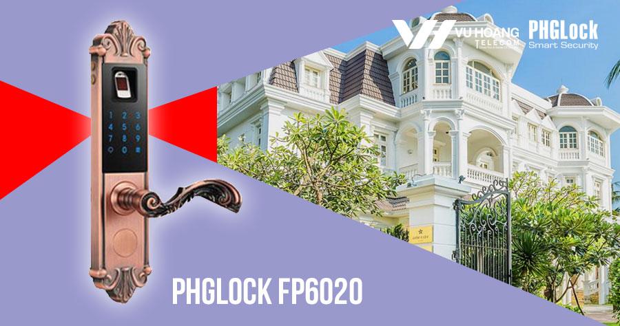 Khóa cửa vân tay cho biệt thự PHGLOCK FP6020 giá rẻ