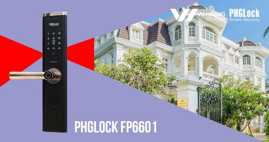 Khóa cửa vân tay cho căn hộ sang trọng PHGLOCK FP6601