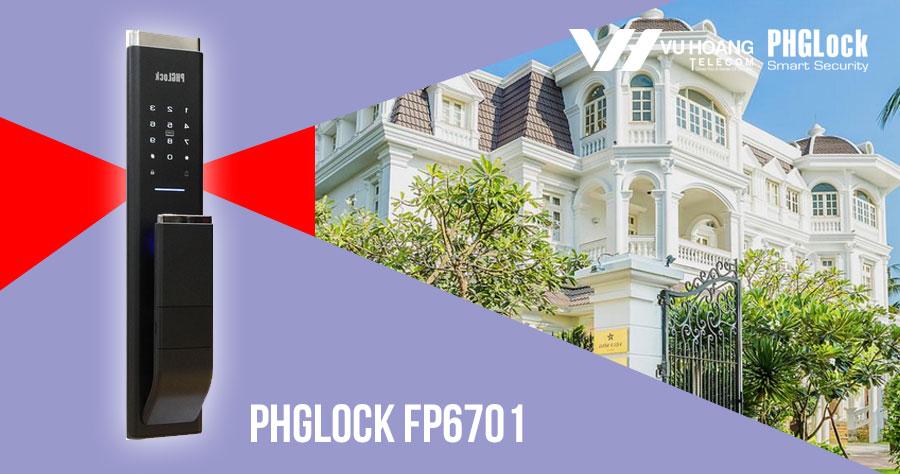 Khóa cửa vân tay cho căn hộ sang trọng PHGLOCK FP6701