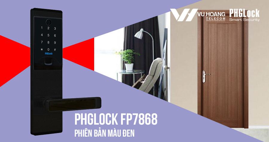 Bán khóa điện tử cho căn hộ PHGLOCK FP7868 (Đen) giá rẻ