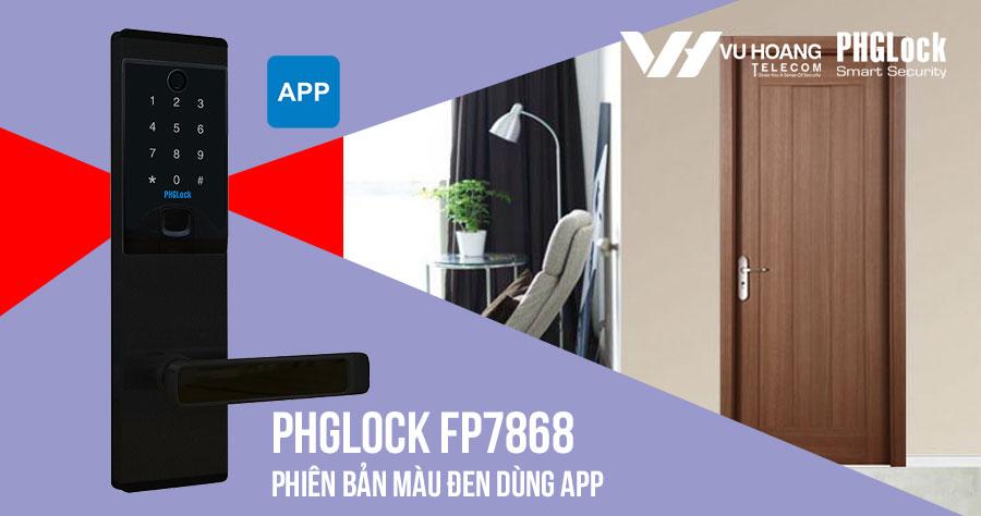 Bán khóa điện tử cho căn hộ PHGLOCK FP7868 (Đen-App) giá rẻ