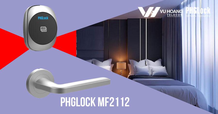 Bán khóa cửa điện tử cho khách sạn PHGLOCK MF2112 (Bạc) giá rẻ