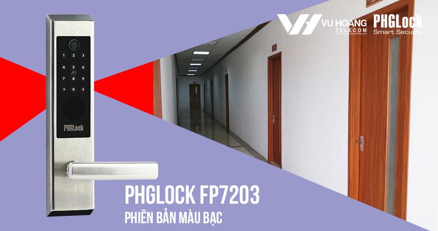 Bán khóa điện tử cho căn hộ PHGLOCK FP7203 (Bạc) giá rẻ