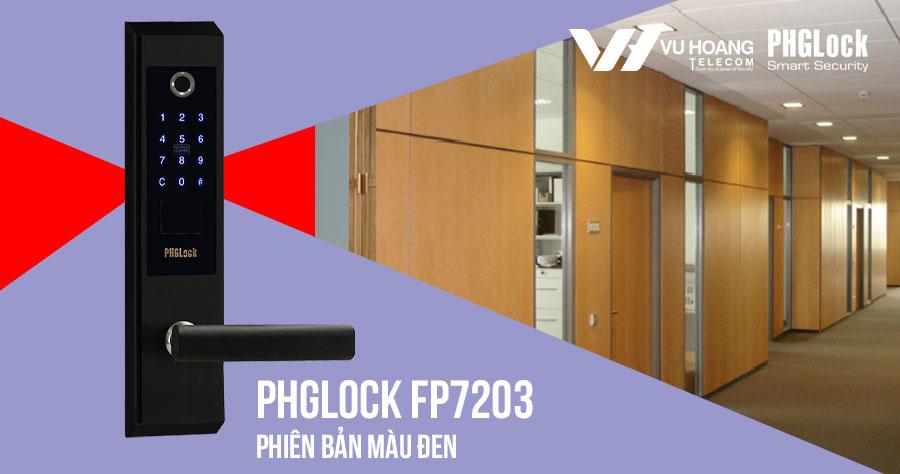 Bán khóa điện tử cho văn phòng PHGLOCK FP7203 (Đen) giá rẻ