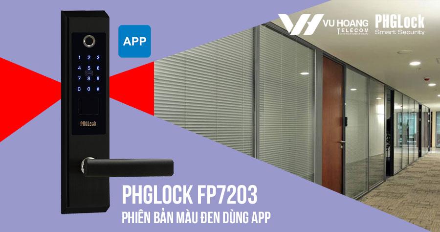 Bán khóa điện tử cho văn phòng PHGLOCK FP7203 (Đen-App) giá rẻ
